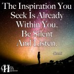 The Inspiration You Seek Is Already Within You