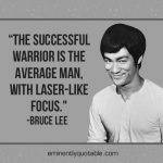 The Successful Warrior Is The Average Man