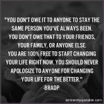 You Don't Owe It To Anyone