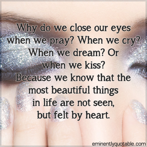 Why do we close our eyes when we pray