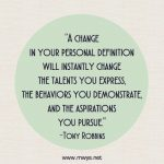A Change in Your Personal Definition