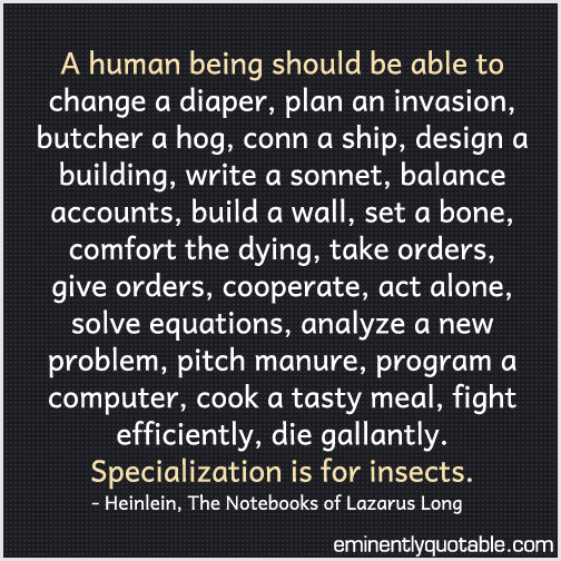 A human being should be able to