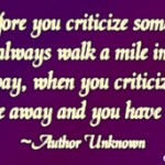 Before You Criticize Someone