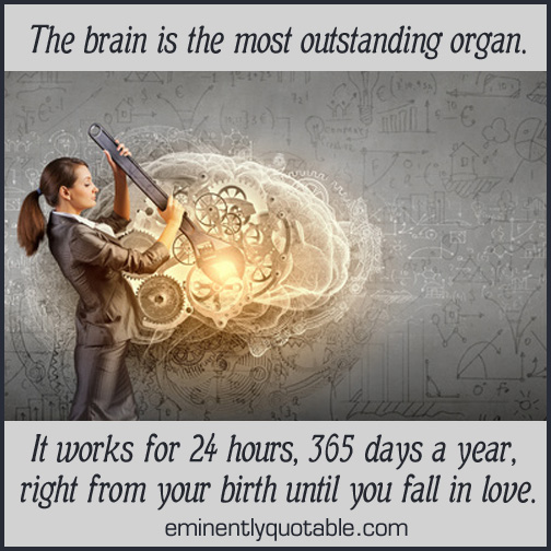 The brain is the most outstanding organ