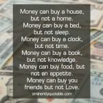 Money Can Buy a House…