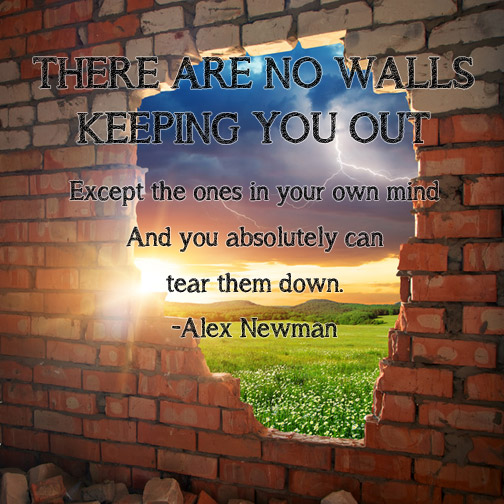There Are No Walls Keeping You Out