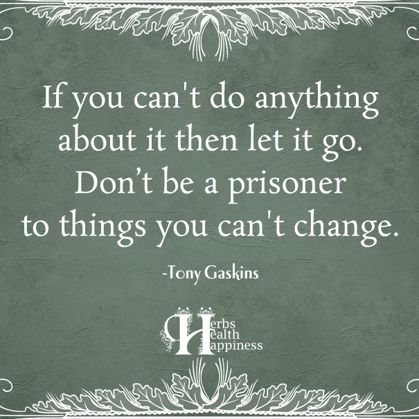 If you can't do anything about it then let it go V1