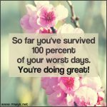 So Far You've Survived 100 Percent of Your Worst Days