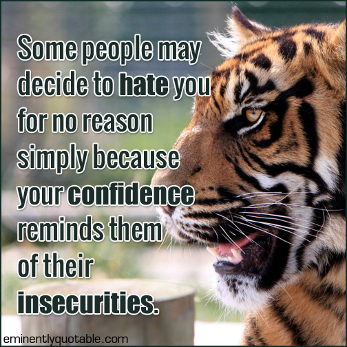 Some people may decide to hate you for no reason