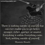 There is Nothing Outside of Yourself