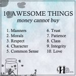 10 Awesome Things Money Cannot Buy
