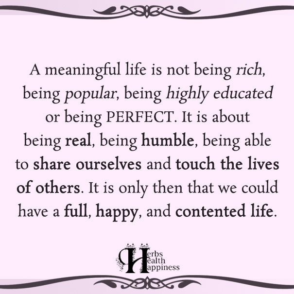 A Meaningful Life Is Not Being Rich ø Eminently Quotable Quotes Cool Meaningful Life Quotes