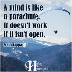 A Mind Is Like A Parachute