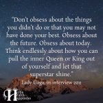 Don't Obsess About The Things You Didn't Do