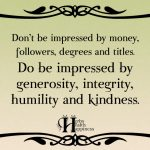 Don't Be Impressed By Money