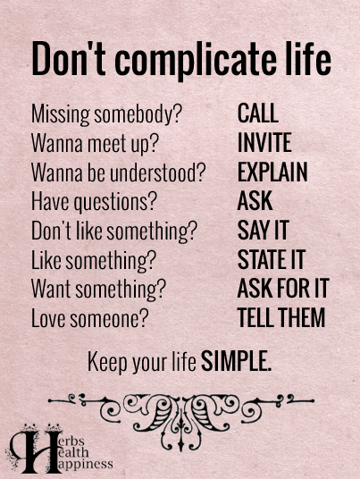 Don't-complicate-life