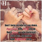Don't Focus On Who Let You Down