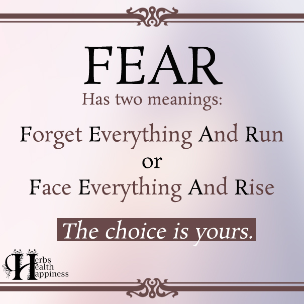 Fear Has Two Meanings ø Eminently Quotable Quotes