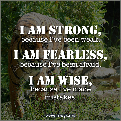 I Am Strong Because I've Been Weak - ø Eminently Quotable