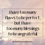 I Have Too Many Flaws To Be Perfect