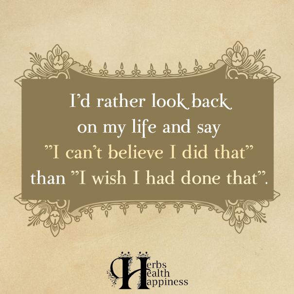 I'd Rather Look Back On My Life