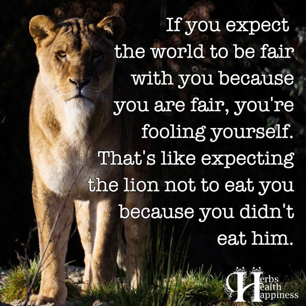If You Expect The World To Be Fair