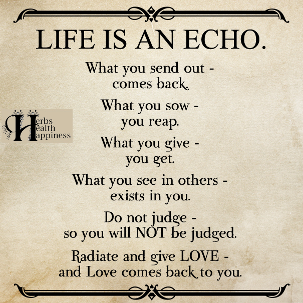 Life Is An Echo Quote Captivating Ø Eminently Quotable  Quotes  Funny Sayings  Inspiration