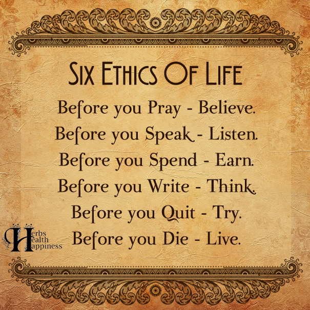 Ethic of life quotes