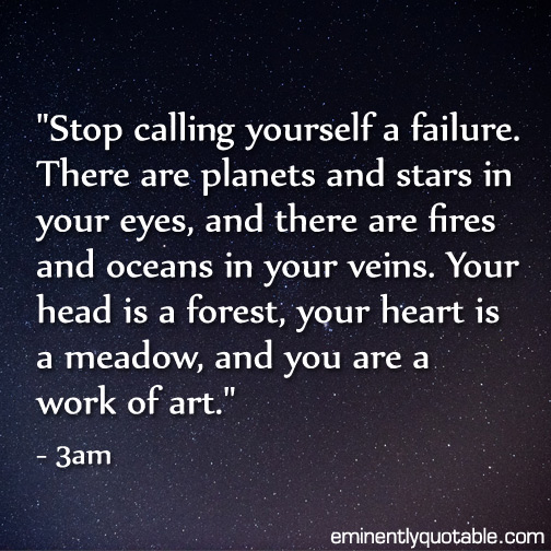 Stop calling yourself a failure