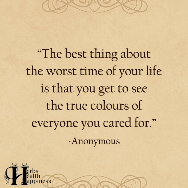 The Best Thing About The Worst Time