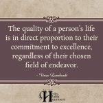 The Quality Of A Person's Life