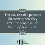 The True Test Of A Person's Character
