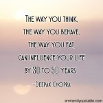 The Way You Think, The Way You Behave – More Cheerful Picture Please