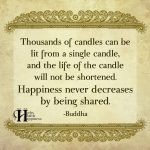 Thousands Of Candles Can Be Lit From A Single Candle