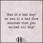 Was It A Bad Day Or Was It A Bad Five Minutes