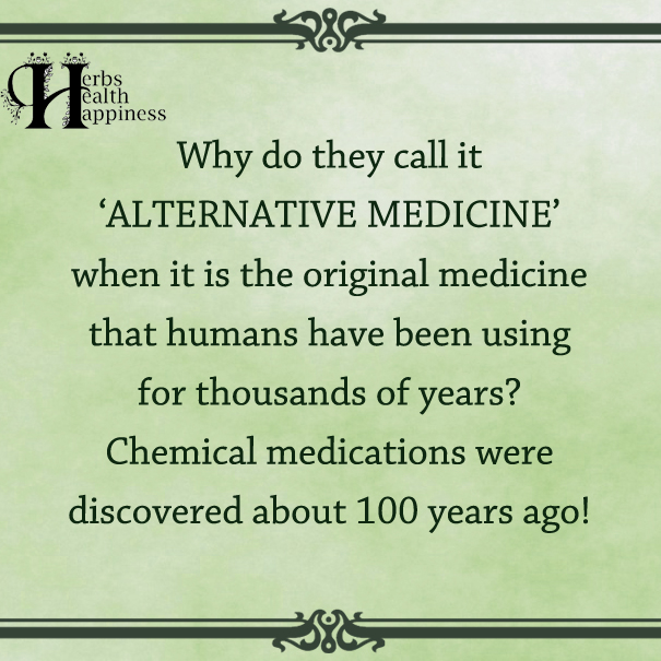 Why Do They Call It Alternative Medicine