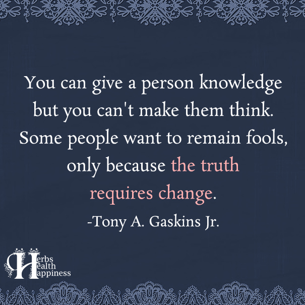 You Can Give A Person Knowledge
