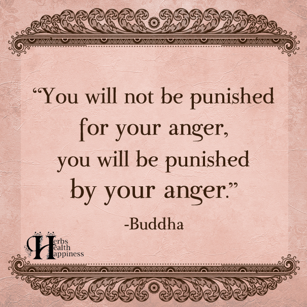 You Will Not Be Punished For Your Anger
