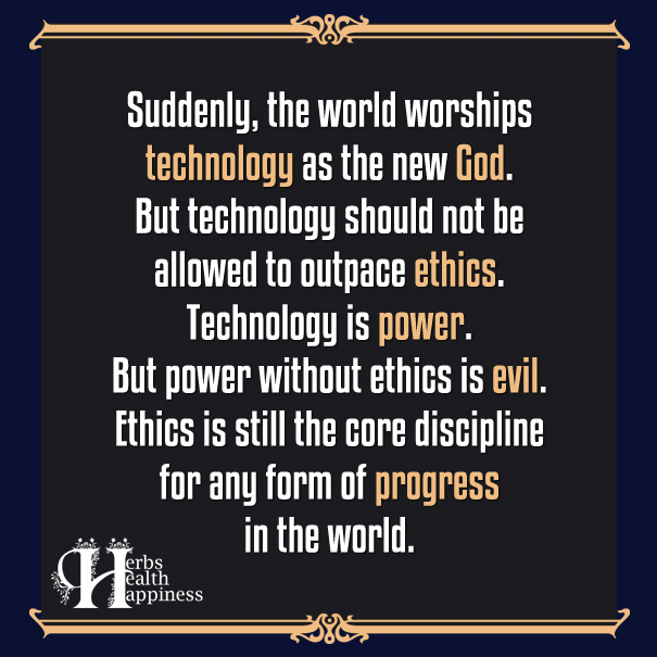Suddenly the world worships technology as the new God