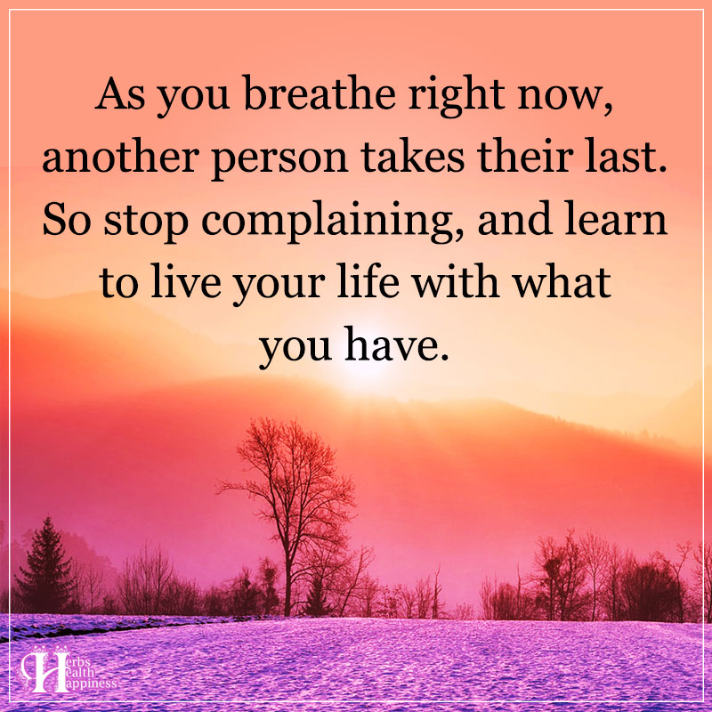 As You Breathe Right Now