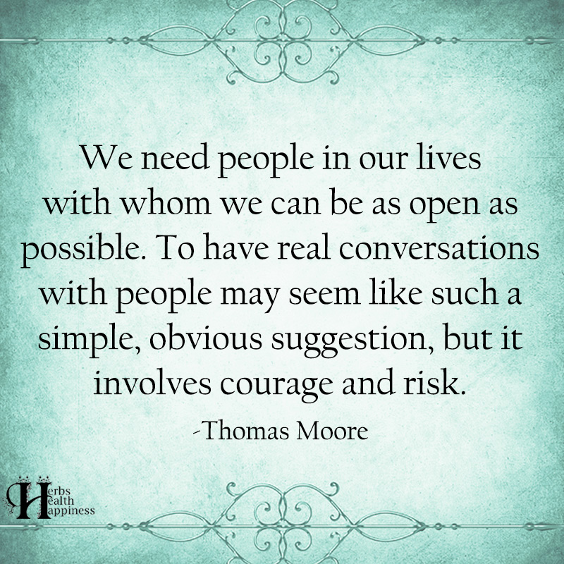 We Need People In Our Lives With Whom