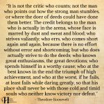 It Is Not The Critic Who Counts