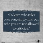 To Learn Who Rules Over You