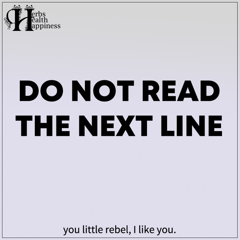 Do Not Read The Next Line