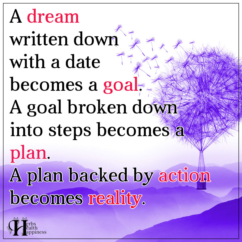 A Dream Written Down With A Date Becomes A Goal