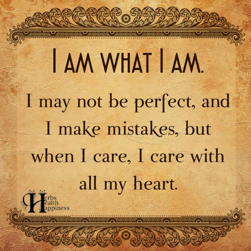 I Am What I Am I May Not Be Perfect And I Make Mistakes