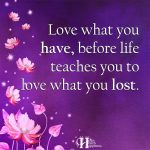 Love What You Have Before Life Teaches You