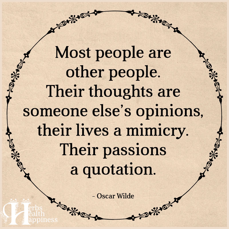 Most People Are Other People
