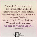 No We Don't Need More Sleep