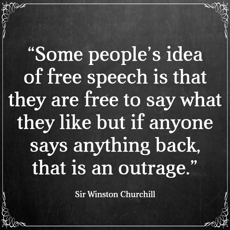 Some Peoples Idea Of Speech Is That They